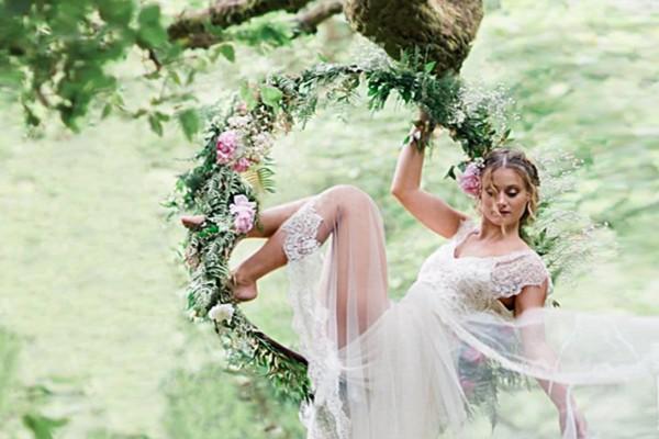 Floral Spring Aerial Hoop