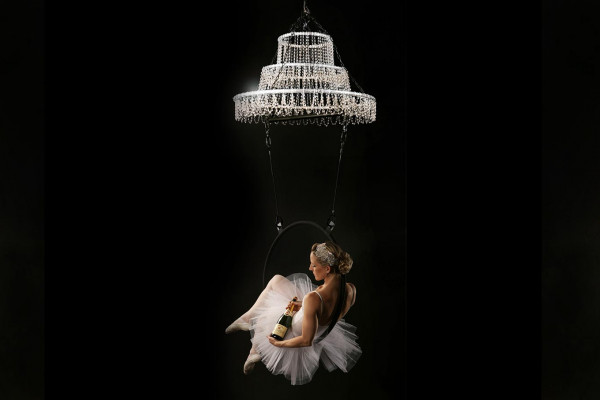 Champagne Aerial Chandelier