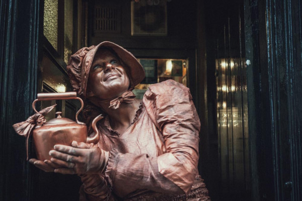 The Victorian Copper Human Statue