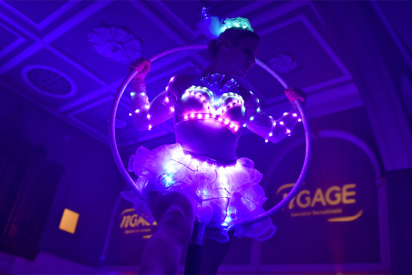 Aerial Glow Hoop Fairies