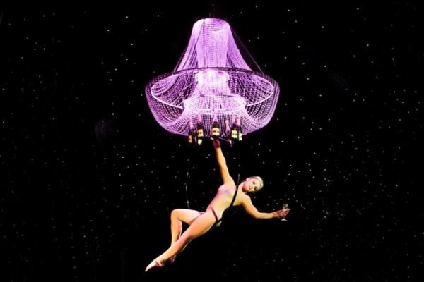 Aerial Hoop Champagne Chandelier