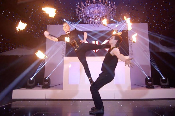 Fire Juggling Duo