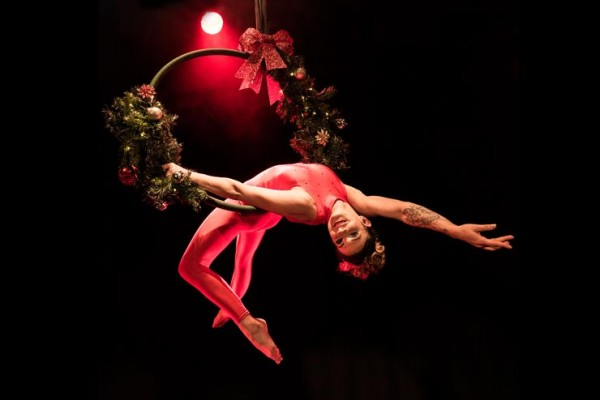 Holly Wreath Aerial Hoop