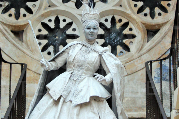 The Snow Maiden Human Statue