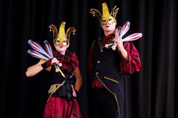 Masquerade Juggling Duo