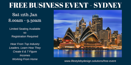 Top Industry Leaders will provide you with an insight as to how they have achieved 6 & 7 figure incomes . Don't miss out - Secure your FREE seats now - (Limited seating available & filling up FAST).