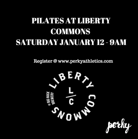 Reserve your ticket at www.perkyathletics or by clicking HERE Join us in the beautiful barrel room at Liberty Commons/Big Rock Brewery for a Pilates class taught by Julia Garcia from Myndful Me.