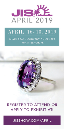 JIS April 2019 is a unique and intimate trade-only jewelry show taking place in Miami Beach, Florida, April 16 - April 18, 2019.