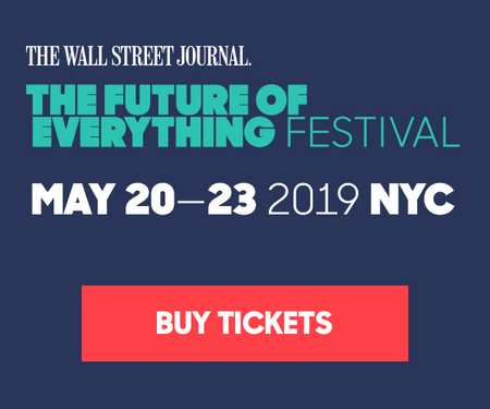 The Wall Street Journal's Future of Everything Festival is back. May 20 - 23 in NYC.