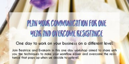 ONE DAY TO WORK ON YOUR BUSINESS ON A DIFFERENT LEVEL Join Evakarin and Beatrice in this one day workshop aimed to share with you the techniques to make your workflow easier and overcome the resist.