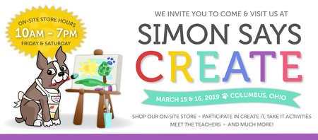 Simon Says Stamp is holding a 2-day CREATE event on March 15 & 16 in Columbus, Ohio! Participate in our Create It, Take It stations where you build cards/crafts with industry leaders at no cost!
