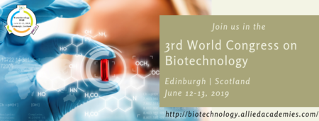 Allied academies invite all to Biotechnology 2019 which is going to be held during 12-13 June at Edinburgh, Scotland.