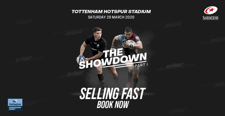 World Class Rugby - World Class Stage Experience world class rugby at the incredible Tottenham Hotspur Stadium.  Saracens take on London rivals Harlequins in the Gallagher Premiership 3pm 28/3/20