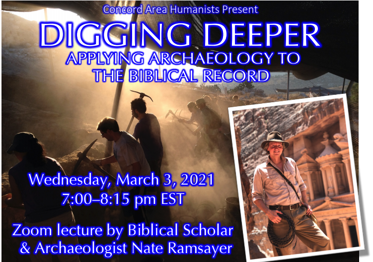 Digging Deeper: Applying Archaeology to the Biblical Record  Nate Ramsayer, biblical scholar and archaeologist