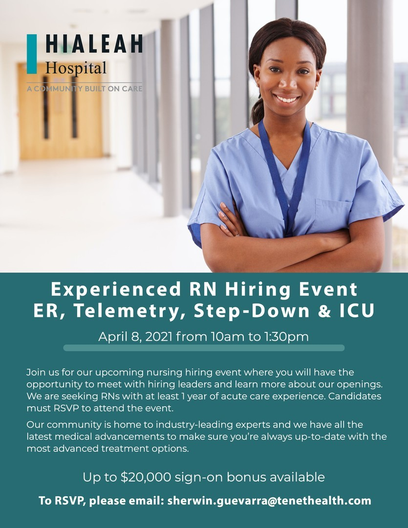 Join us for our upcoming nursing hiring event where you will have the chance to meet with hiring leaders and learn more about our opportunities!