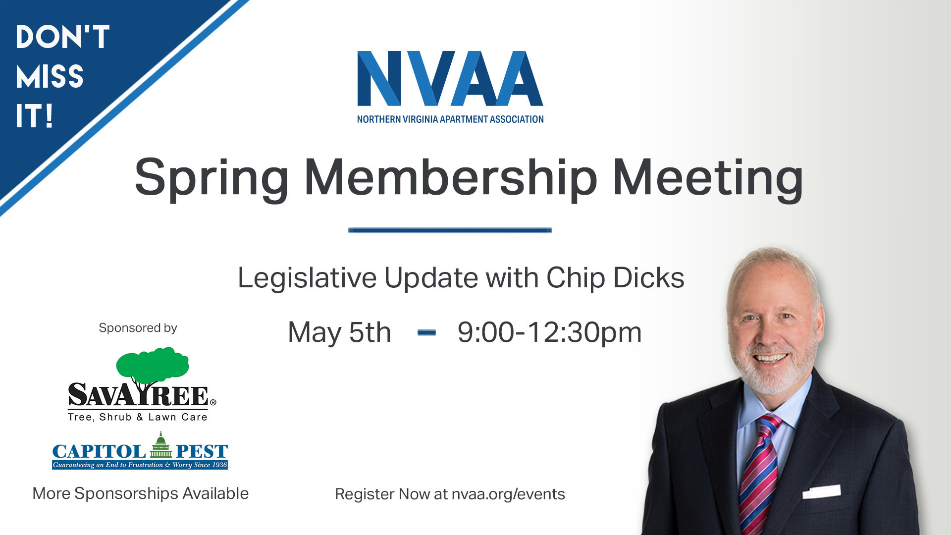Join us for our annual Legislative Update with Chip Dicks, NVAA Lobbyist.