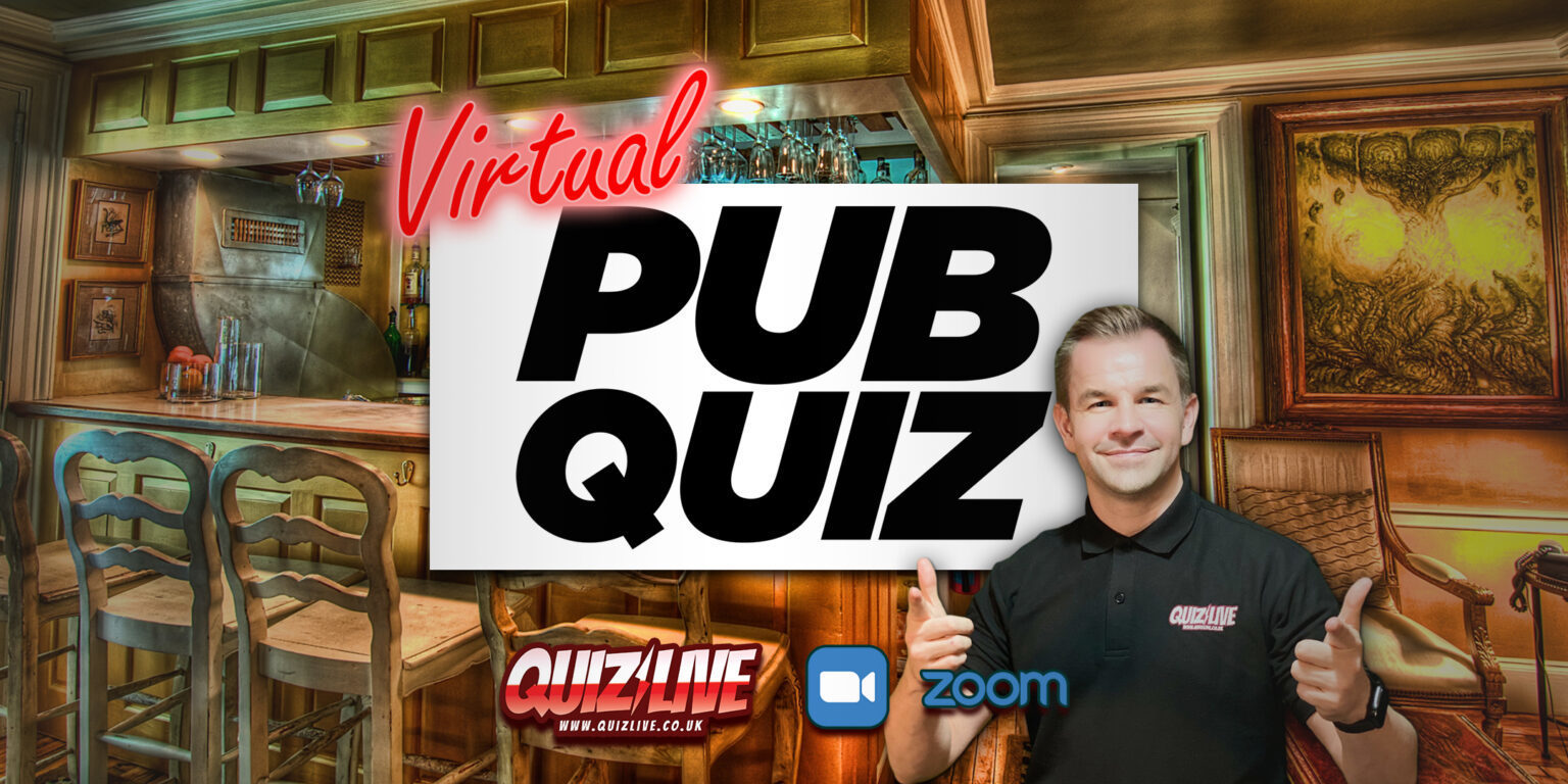 Enjoy Wednesdays with our famous Virtual Pub Quiz. Trivia, music, and fun!