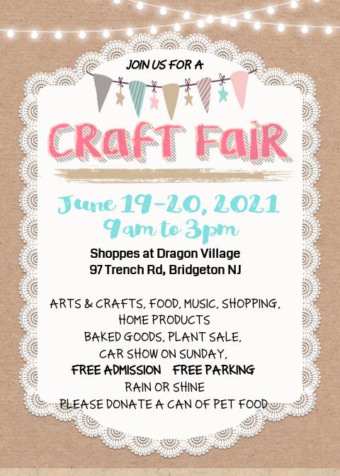 Join Us! June Craft Fair - Join Us! June Craft Fair