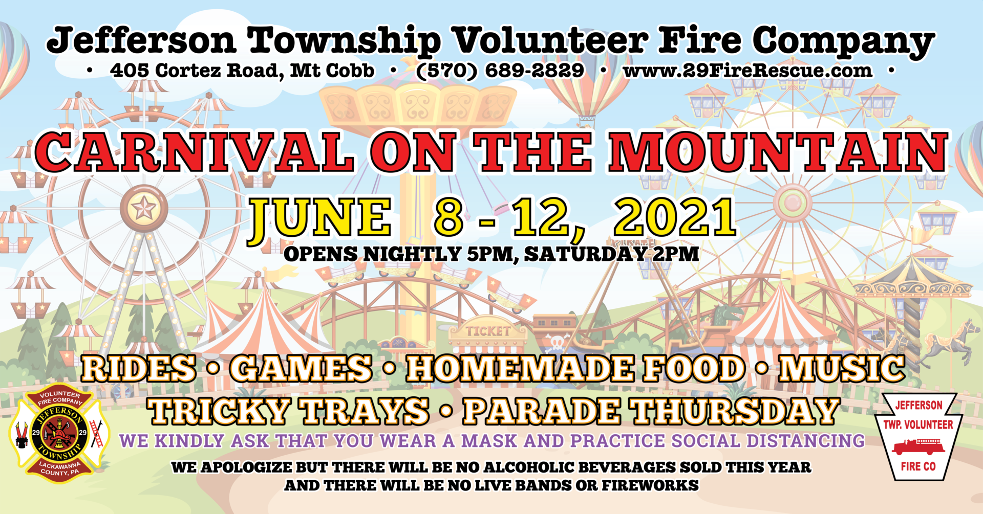 Carnival on the Mountain at the Jefferson Township Volunteer Fire Company