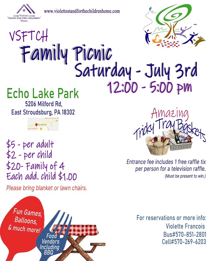 Violette Stand for the Children Family Picnic
