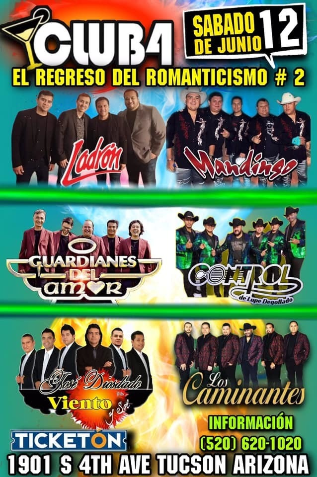 Club4 #Tucson #Arizona - Gira El Regreso Del Romanticismo 2??