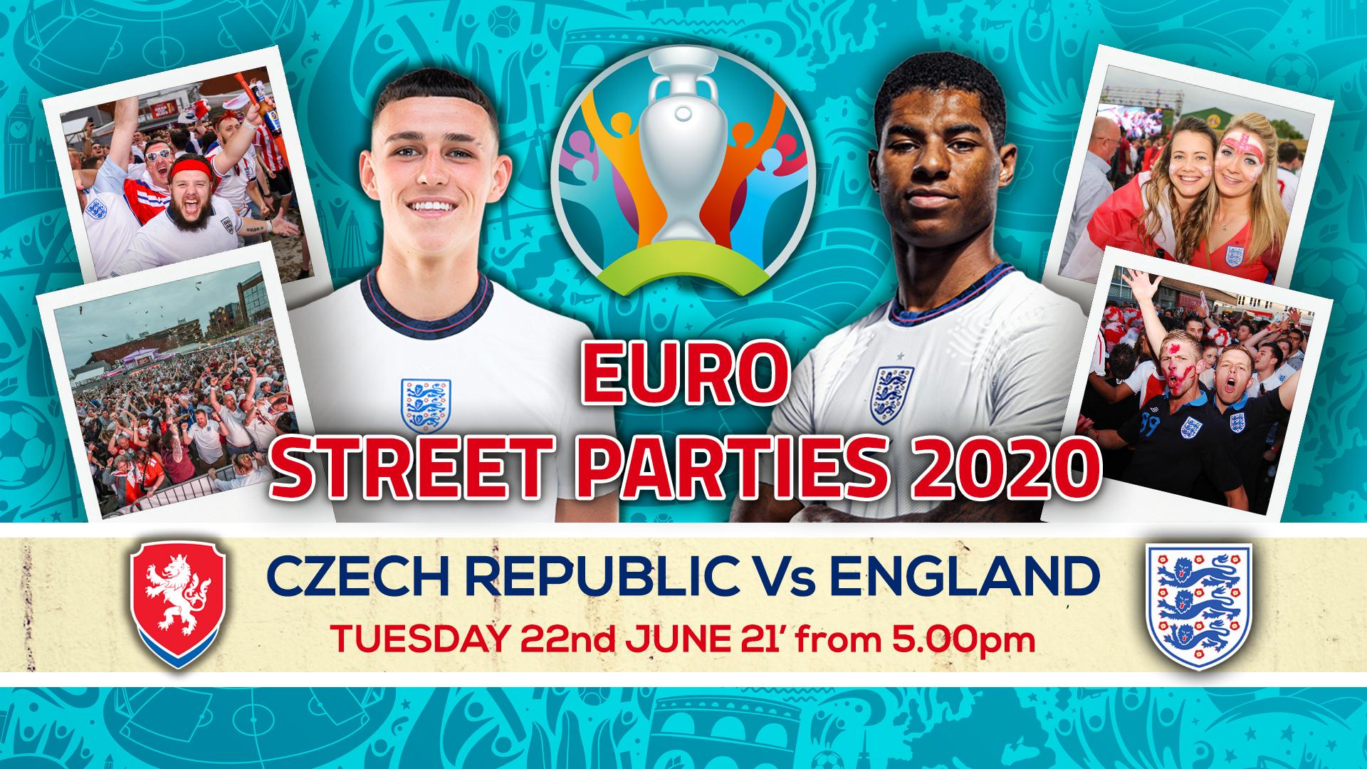 Czech Republic Vs England - Euro 2020 Street Party