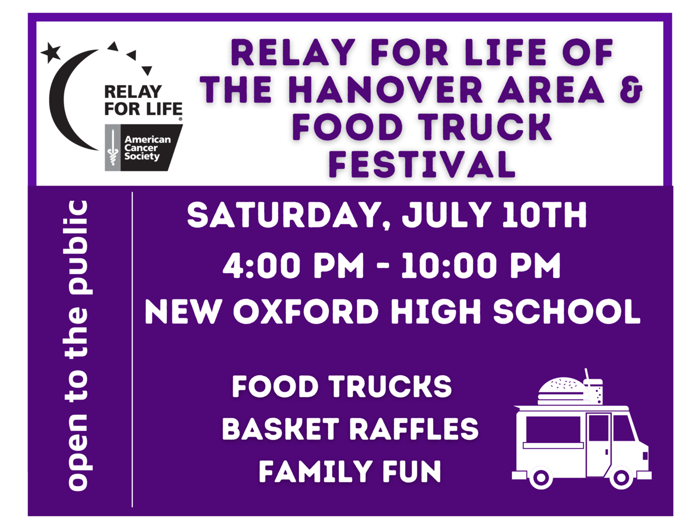 Relay For Life of the Hanover Area & Food Truck Festival