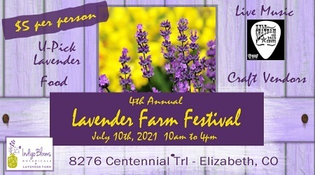 Indigo Blooms Botanicals 4th Annual Lavender Farm Festival - July 10th, 2021