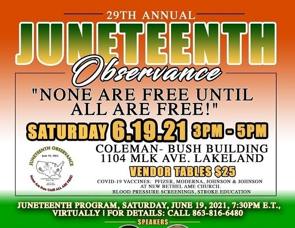 29TH ANNUAL JUNETEENTH OBSERVANCE