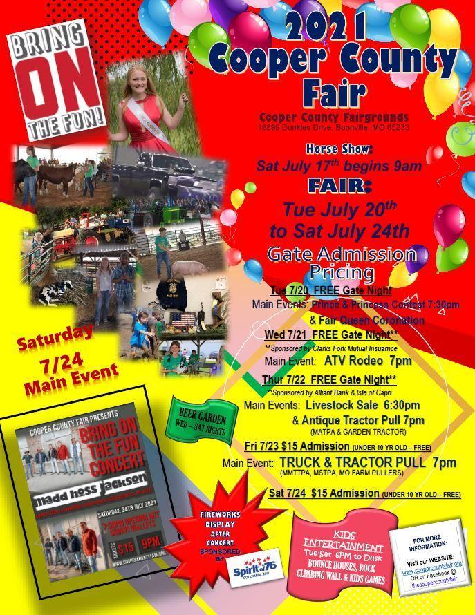 'Bring on the Fun' Annual Cooper County Horse Show & Fair