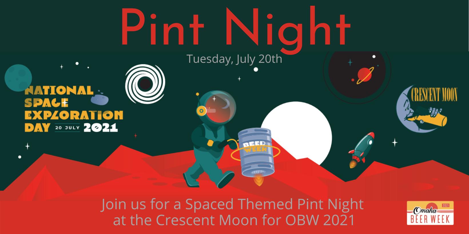 Crescent Moon's Lunar Landing Pint Night