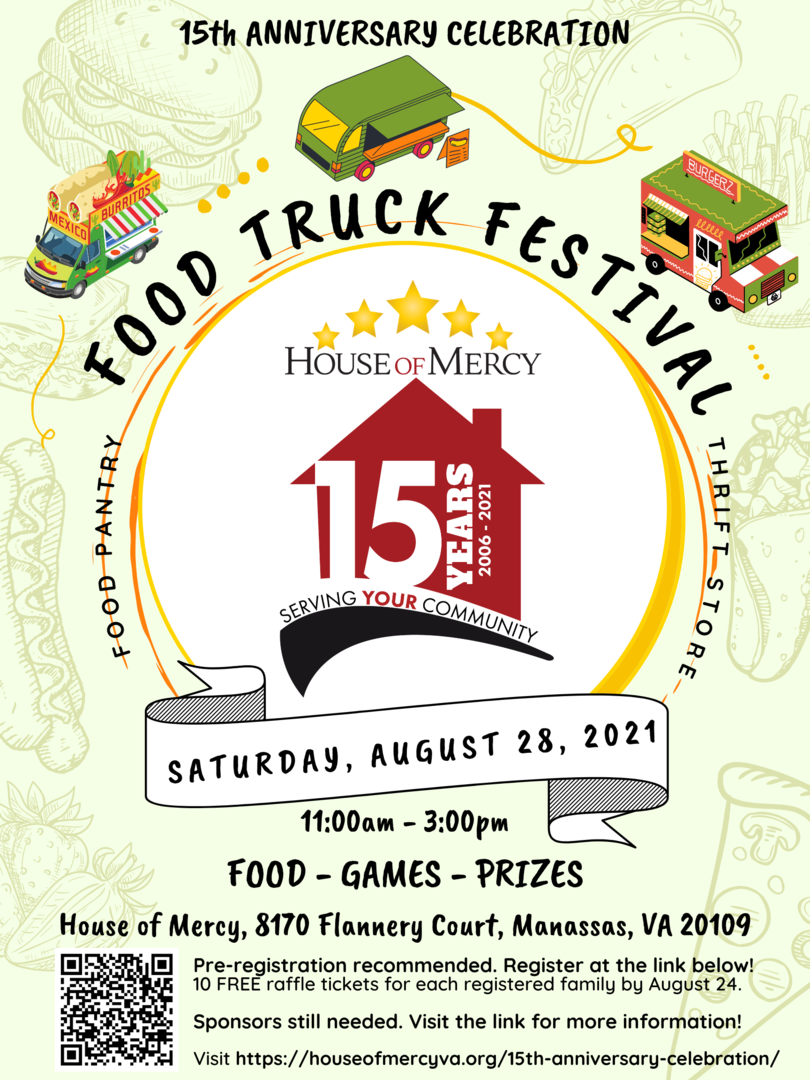 House of Mercy's 15th Anniversary Celebration Food Truck Festival