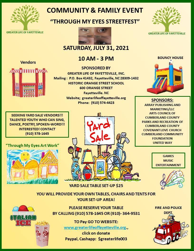 Community/Family Event :  'Through My Eyes Streetfest'