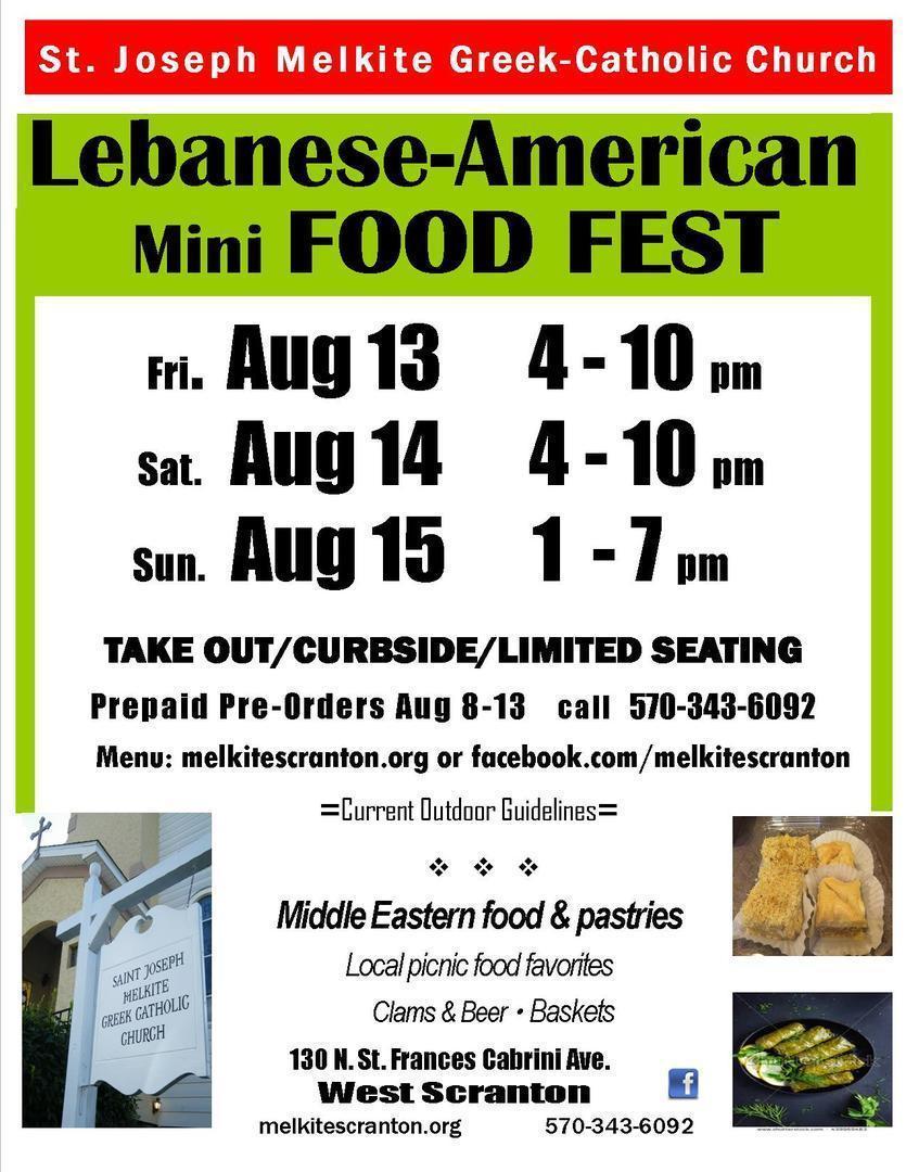 20th Annual LEBANESE-AMERICAN MINI FOOD FESTIVAL
