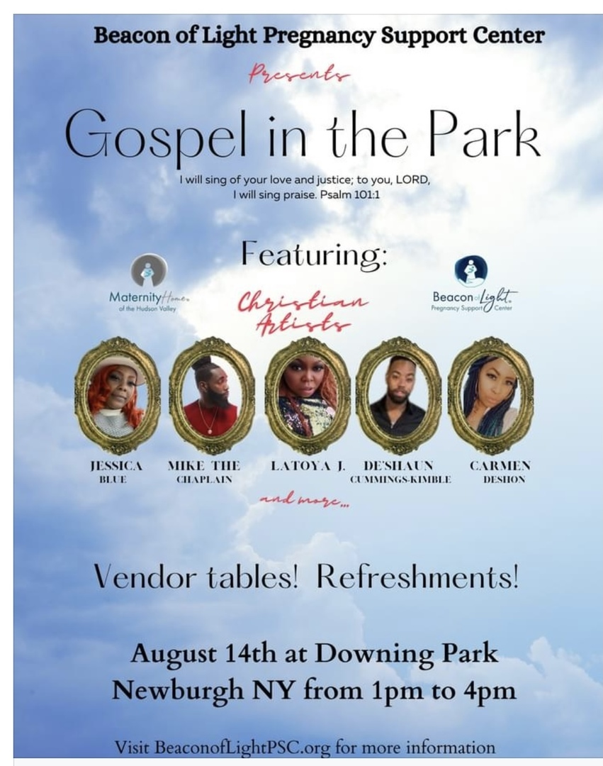 Beacon Of Light Presents Gopel In The Park!  August 14th at Downing Park Newburgh NY