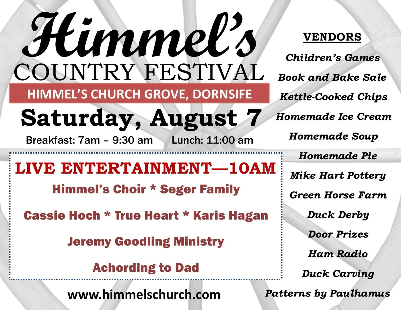 Himmel's Church Annual Country Festival