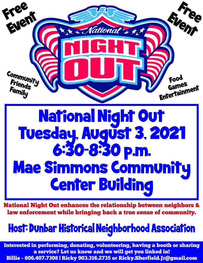 National Night Out - Dunbar Neighborhood