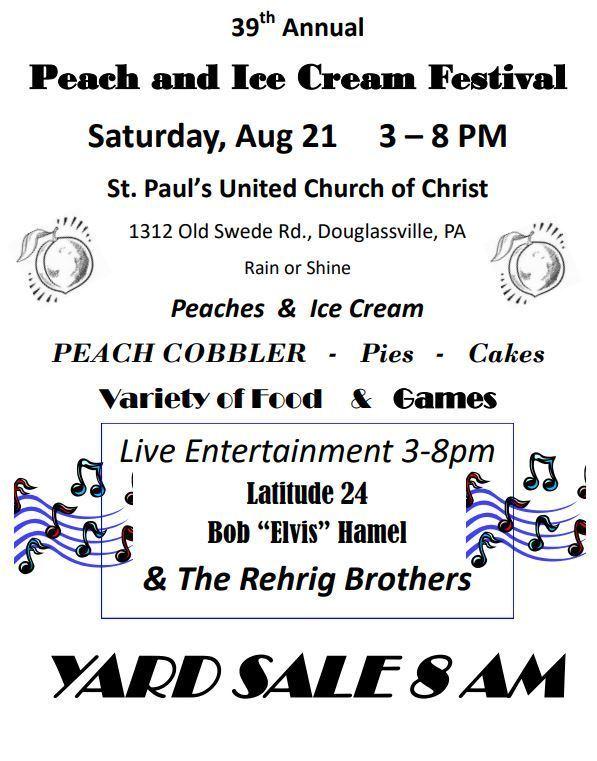 39th Annual Peach and Ice Cream Festival