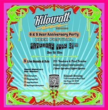 Kilowatt Brewing 6th & 5th Anniversary Party Beer Festival!