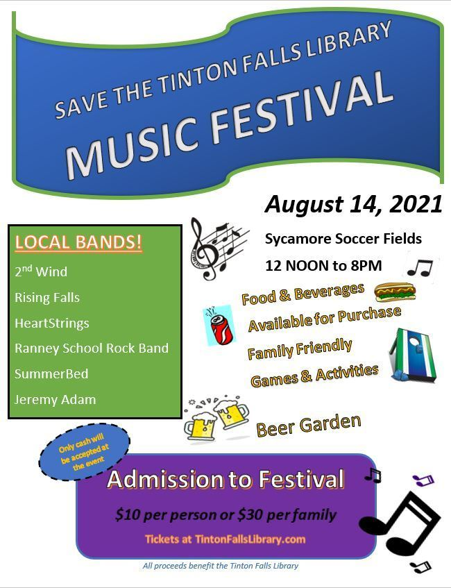 Save The Tinton Falls Library Music Festival
