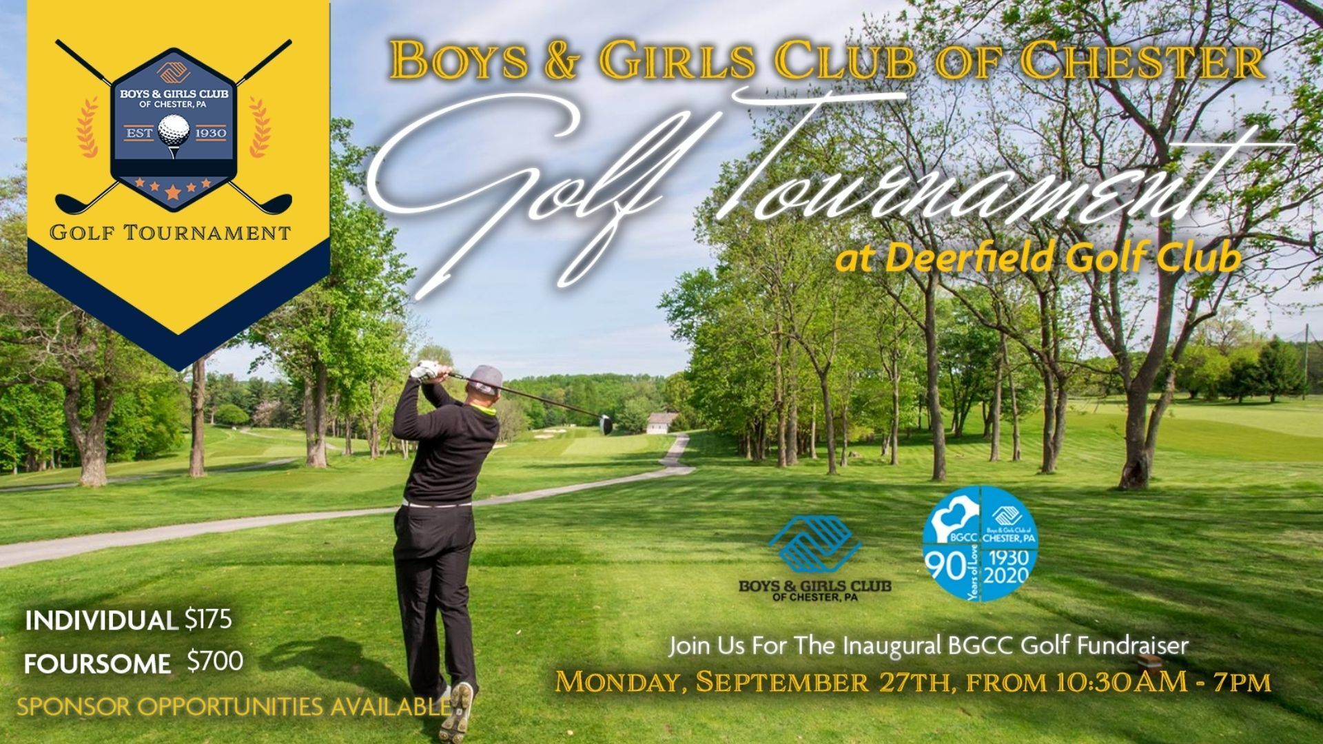 Join us for a day filled with golf, fun, food, and community  September 27, 2021 @ 10:30AM — 7:00PM