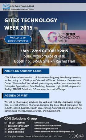 Meet CDN Solutions Group in Gitex 2015 Dubai