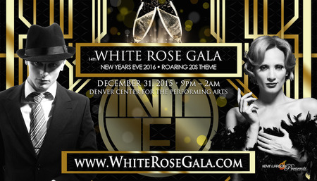 14th Annual White Rose Gala – NYE Denver 2015 - 2016