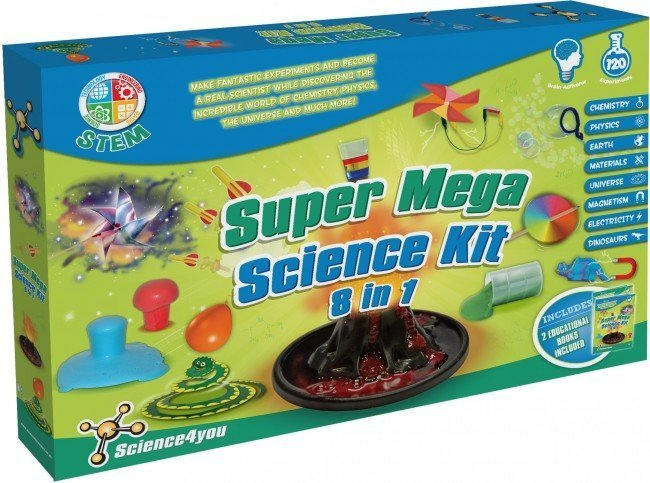 Science4You Super Mega Science Kit 8 in 1 (Boys)