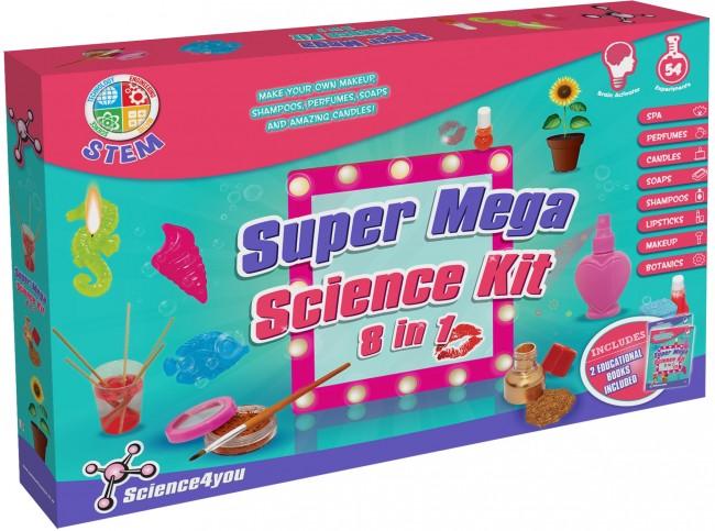 Science4You Super Mega Science Kit 8 in 1 (Girls)