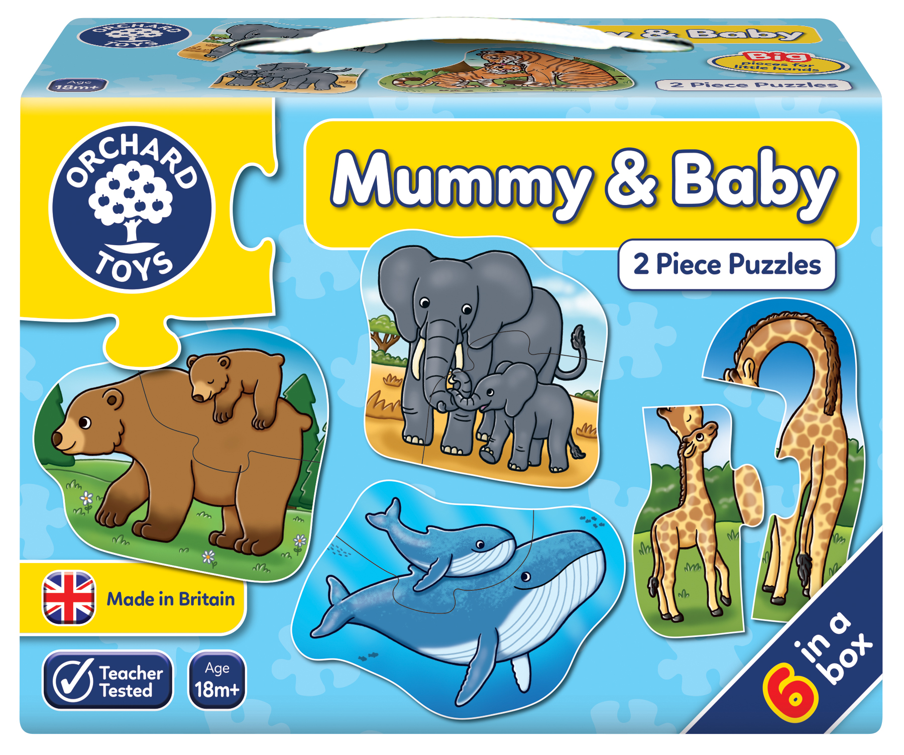 Orchard Toys Mummy And Baby 2 Piece Puzzles