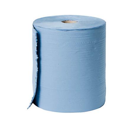 Bigcel poetspapier op rol 3 laags blauw 380 meter 37 cm for Ladenblok 1 meter breed