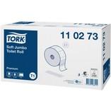 Tork 110273 premium toiletpapier jumbo roll t1 jumbo systeem 2 laags 360 meter doos a 6 rollen