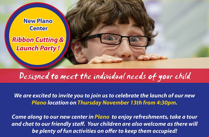plano ribbon cutting invitation
