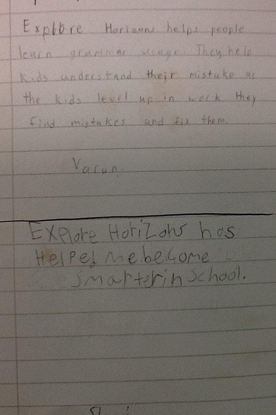 plano kid varun handwritten testimonial